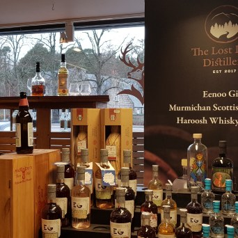 George Strachans in Aboyne. Whisky shop in the Cairngorms National Park Royal Deeside Aberdeenshire