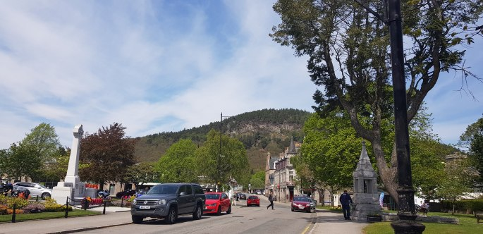 Ballater Village in the Cairngorms National Park Royal Deeside Aberdeenshire